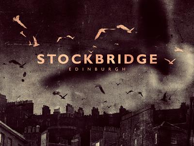 Stockbridge Edinburgh stockbridge edinburgh birds rooftops montage dark chimneys seagulls