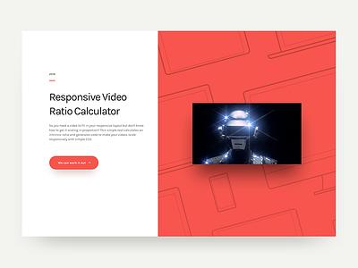 Responsive Video Ratio Calculator Promo calculator ratio video responsive