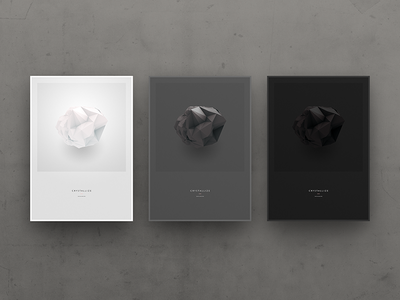 'Crystallize' Poster Concepts concepts poster crystallize