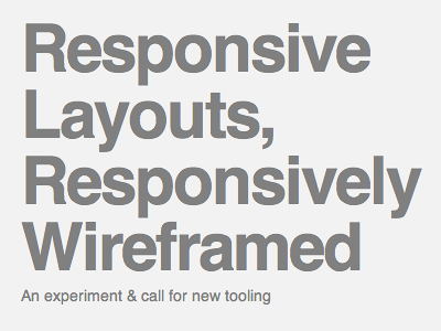 Responsive Layouts, Responsively Wireframed responsive layout wireframe rwd