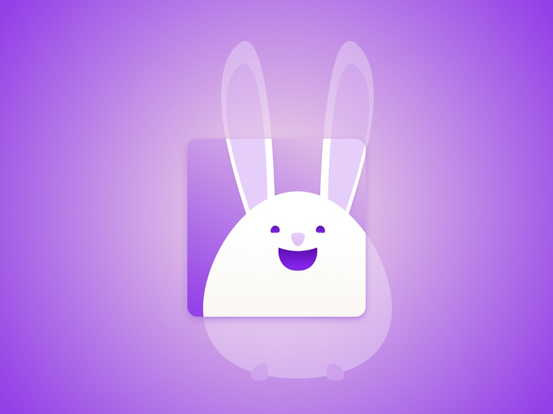 Icon app logo characterdesign icon a day dailyuichallenge rabbit icon art icon app icon design design illustration cute art gif daily005