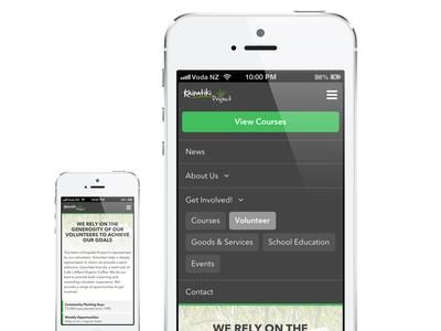 Mobile responsive navigation - WIP