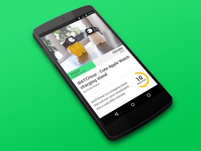 Day 032 - Crowdfunding Card app android mobile card crowdfunding kickstarter