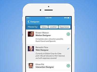 Day 050 - HR Widget app ios mobile card hr