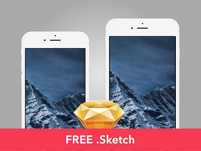 Free: Slate style iPhone 6 / 6+ mockup [Sketch] slate mockup plus 6 iphone sketch