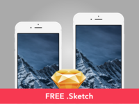 Free: Slate style iPhone 6 / 6+ mockup [Sketch]