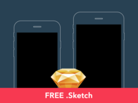 Free: Slate style iPhone 6 / 6+ wireframes [Sketch]