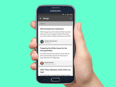 Day 065 - Newsfeed UI posts article blog app mobile android feed news
