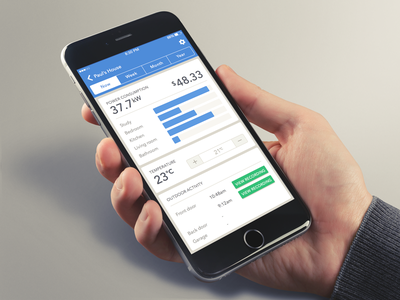 Day 067 - Smart Home UI app mobile iphone ios ui home smart