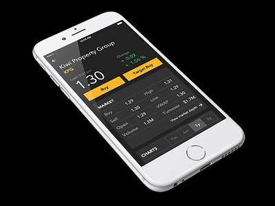 Individual stock screen to begin stock buying process keyboard custom language natural buying share stock securities asb app ios mobile