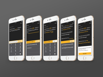 Stock buying flow language natural keyboard custom buying share stock app mobile ios securities asb