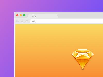 [.sketch] Easily resizable Chrome mockup browser chrome mockup sketch