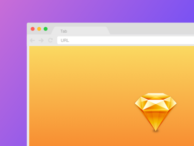 [.sketch] Easily resizable Chrome mockup browser chrome mockup sketch