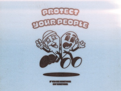 Protect People graphic design illustration character design