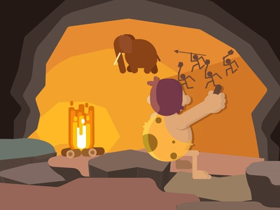 cave paintings beauty ui beautiful flat icon ux logo typography illustrator graphic design