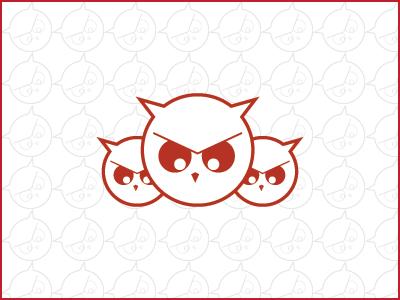 Angry Owl owl animal logo mark abstract figure illustration