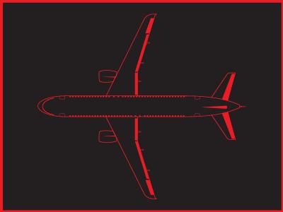 Airplane boeing airplane line linework icon illustrator illustration design
