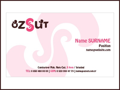 Business Card kartvizit süt öz card business