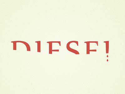 Diesel clever smart effective simple diesel logo