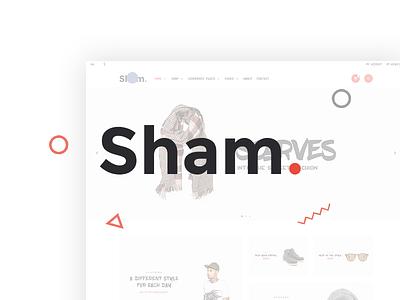 Sham - eCommerce UI/UX Design sham sold sell clothes store shoping shop ecommerce ui