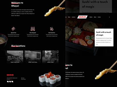 Sushi Restaurant Website 🍣 ux ui page mobile landing ios interaction homepage freebies restaurant sushi