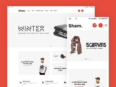 Sham - eCommerce UX/UI ui8 theme stile bootstrap ui store sold shopping shop sell ecommerce clothes