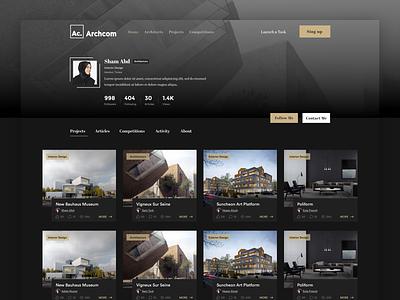 Architect Profile architect profile design architects architectural design portofolio profile arabic design ux ui