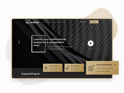 Archcom • Architectural Platform - UI/UX Design freelancer architectural services webdesign firm architectural design architects logo ux arabic ui