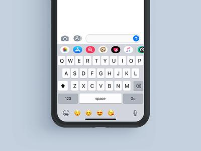 How We Can Improve Emoji Typing In Iphone X Keyboard iphone apple iphone xs improve emoji keyboard user experience design emoji iphone x ux