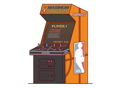 NBA Jam illustration illustrator design art vector gaming arcade