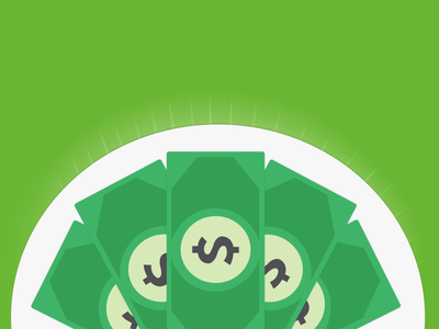 Dollar plate - CSS Animation included css dollar money slider