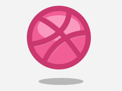 Pure CSS3 Dribbble logo