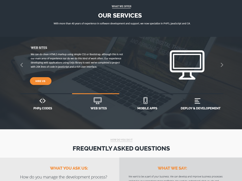 Company Profile One Page Website Professional Software