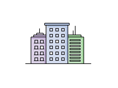 Corporate Building line icons icons corporate buildings