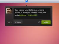 Tweet Widget twitter ui ux design