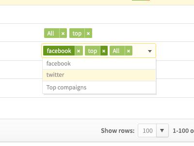 Edit Tag  tags form ui green design