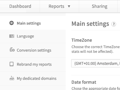 Settings page settings design ui ux clean white