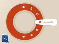 Circular navigation menu