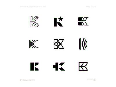Letter K exploration k letters letter lettermark mark logoinspiration logomarks logomark logodevelopment logoicon logodesigner logodesigns logodesign logotype logos logo