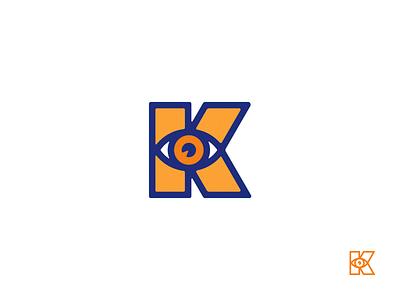 Letter K + Eye lettermark characters character letter logos letter logo lettermarks lettermark eye logo eye letter k logo letter k letter