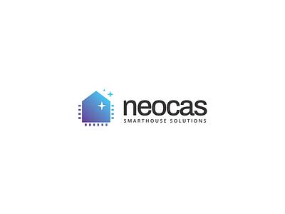 Neocas smarthouse smart house smart home smarthome house home tovarkovdesign logo design logodesign logos logotype logo