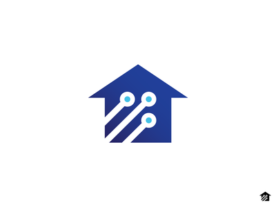 Smart Home Logo Icon logo mark logo icon tovarkovdesign home automation system home automation smart house smart home house logo home logo house home