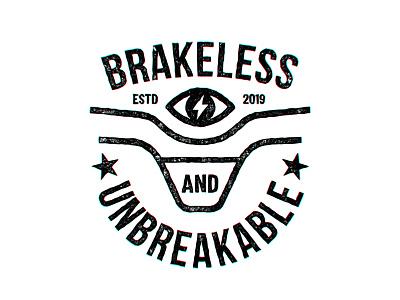 Brakeless  & unbreakable handlebars handlebar tovarkovdesign logo crest badge mtb street rider street bmx