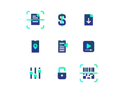 App Plugins Icons Set flat style flat iconography icons set icons icon ui