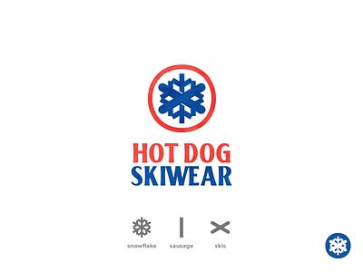 Hot Dog Skiwear freestyle skis skiing ski snowflake mark logos logotype logomark logo
