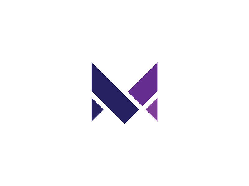 M tile segment abstract mark logomark logo