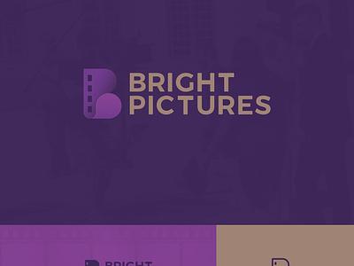 Bright Pictures logo movie film monogram logomark logotype logo