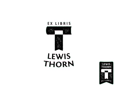 Letter T + book + bookmark logo