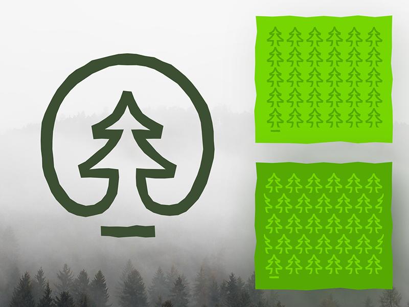 Wood industry logo concept fir-tree firtree wood symbol logo icon logomark logo