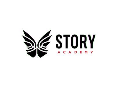 Story Academy book logo book paper logo paper butterfly logo butterfly logodesign logo design logotype logos logo